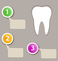 Dental infographics vector image