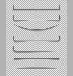 divider shadow line frame edge paper on vector image