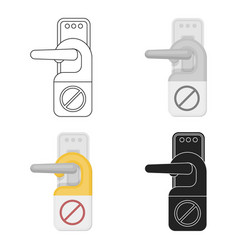Do not disturb sign icon in cartoon style isolated vector