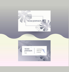 double-sided business card in graphite color vector image