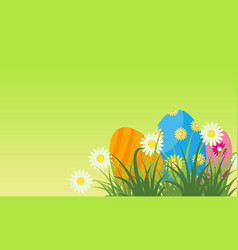 Easter egg greeting card flat vector