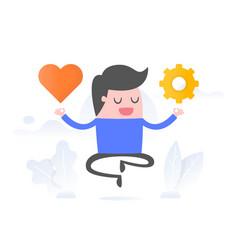 emotional intelligence vector image
