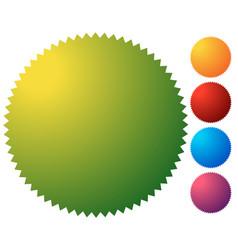 Empty starburst sunburst button icon background vector