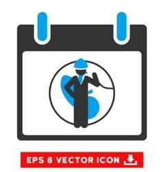 Engineer Calendar Day Eps Icon vector