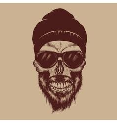 Fashionable skull vector image