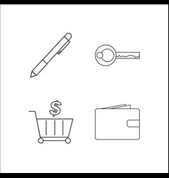 Finance banking and money simple linear icon vector