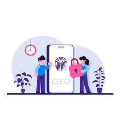 Finger authentication concept fingerprint vector