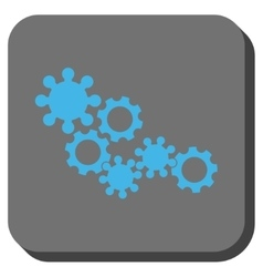 Gear Mechanism Rounded Square Button vector