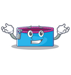 grinning pencil case character cartoon vector image