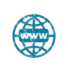Grunge world net icon vector image
