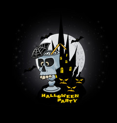 halloween party for poster or vector image