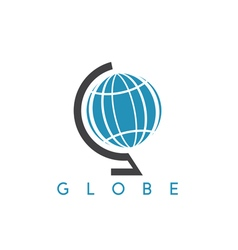 Icon of abstract globe design template vector