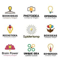 Ideas lamp Symbol Design vector