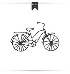 Kid doodle bicycle with isolated vector