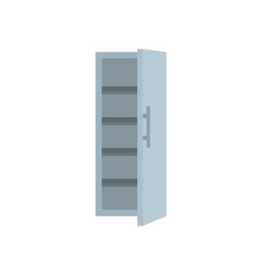 kitchen fridge icon flat style vector image
