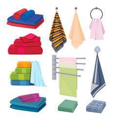 kitchen rags textile cotton fabrics colored vector image