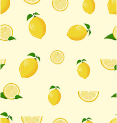 lemon fruit on a white background seamless vector image