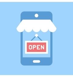Mobile shopping vector