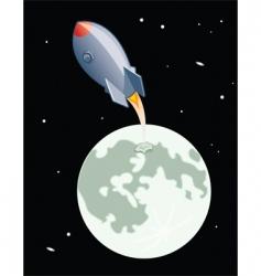 moon launch vector image