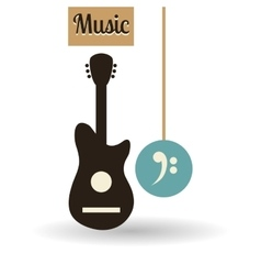 Music design music note icon Isolated vector image