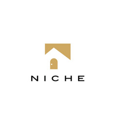 Niche door logo icon vector