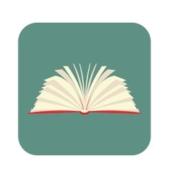 Opened book with pages fluttering flat icon vector
