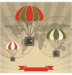 Parachutes to parcels vector