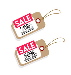price tag sale 70 50 special offer image vector image