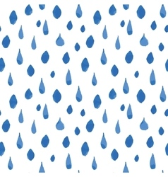 Rain drops seamless pattern Hand drawn vector image