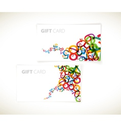 Rainbow numbers gift cards vector