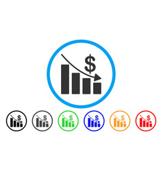 recession rounded icon vector image