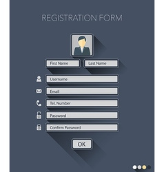 Registration form vector