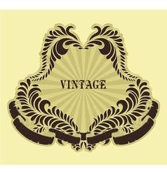 retro floral label vector image