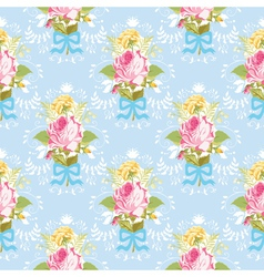 seamless floral shabchic background vector image
