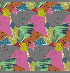 seamless pattern pieces torn paper vector image