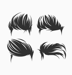 Set of men hairstyle and haircuts isolated vector