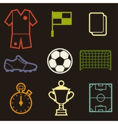 Set of sports soccer football symbols vector image