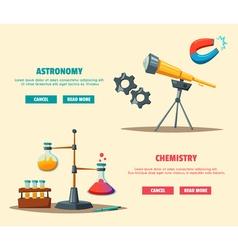 set science logo cartoon education theme vector image
