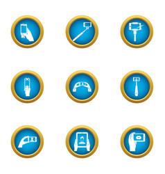 Snapshot icons set flat style vector