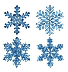 snowflakes Set of Snowflake handmade vector image