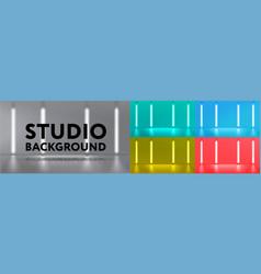 Studio background set vector