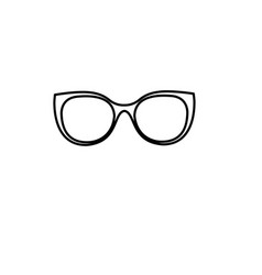 sunglasses thin line icon accessory and glasses vector image