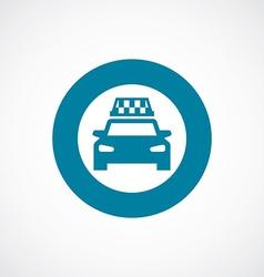 Taxi icon bold blue circle border vector
