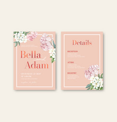 thai flowers wedding card design vector image