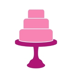 Tiered cake label vector image