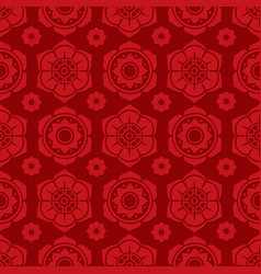 traditional chinese and japanese floral seamless vector image