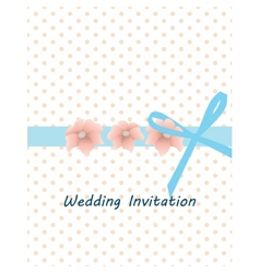 Traditional vintage invitation card vector