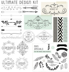 ULTIMATE DESIGN ELEMENTS KIT vector image