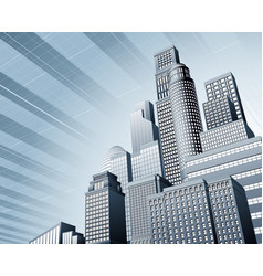 urban city business background vector image