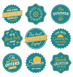 Vintage Summer Labels Collection vector image
